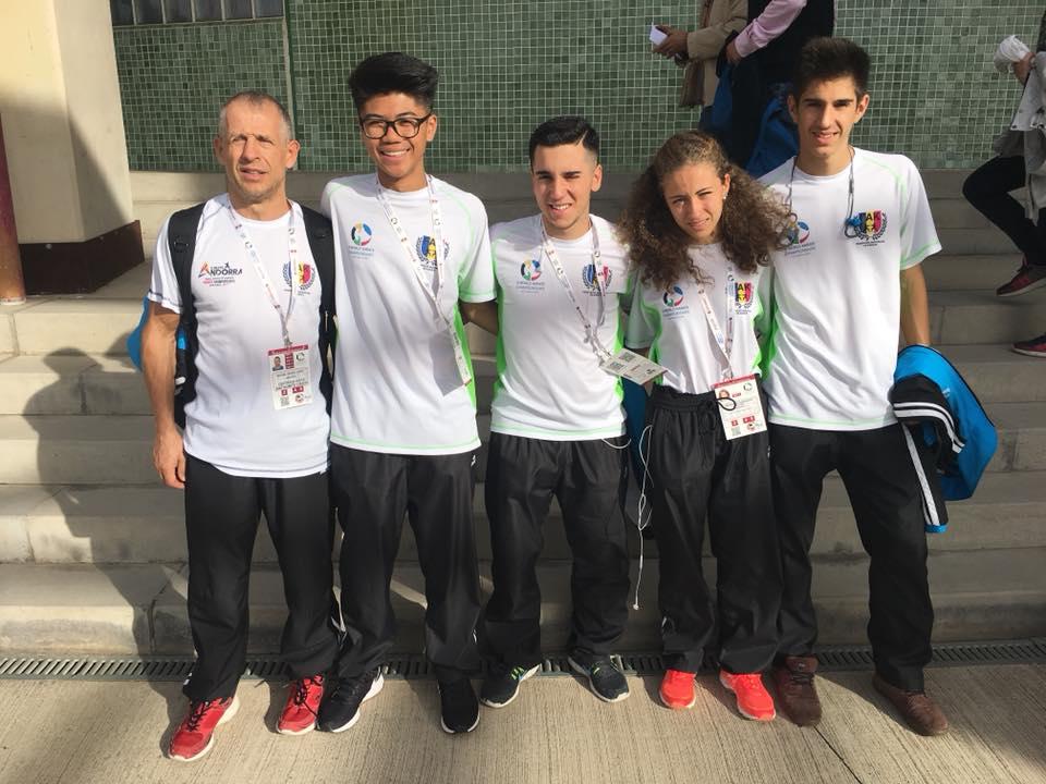 La Federación Andorrana de Karate en el Campeonato del Mundo Cadete, Junior y Sub 21 en Tenerife