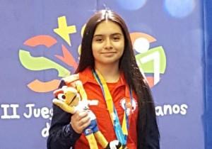 Karateca puertomontina ganó medalla de plata en los II Juegos Suramericanos de la Juventud 2017