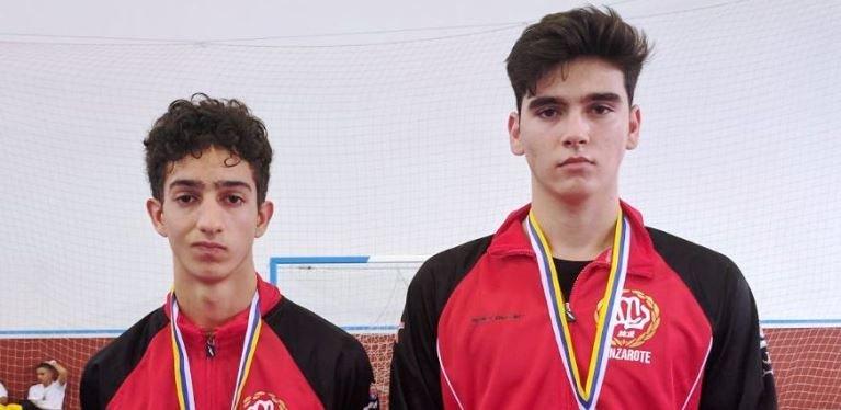 El Poliarrecife consigue dos medallas en el campeonato de Canarias de Karate cadete-junior sub 21