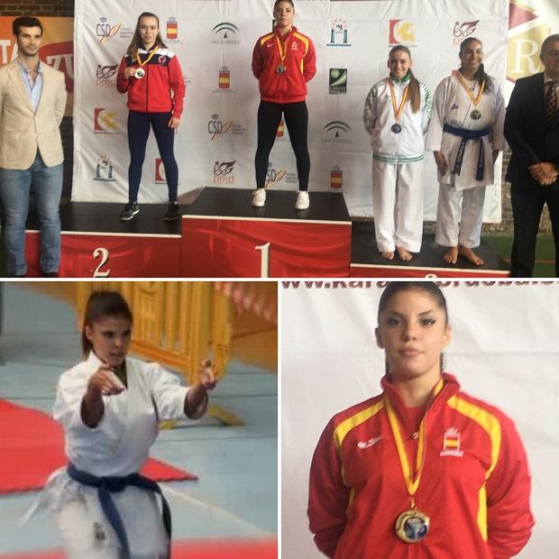 Sabrina Medero de Olympic Karate Marbella consigue el oro internacional en Palma del Rio