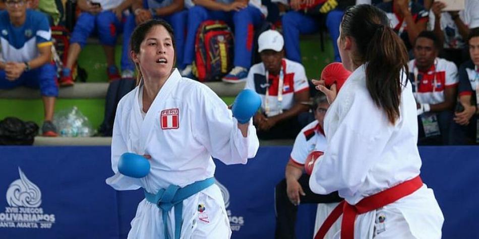 Alexandra Grande ganó medalla de plata en karate en los Juegos Bolivarianos