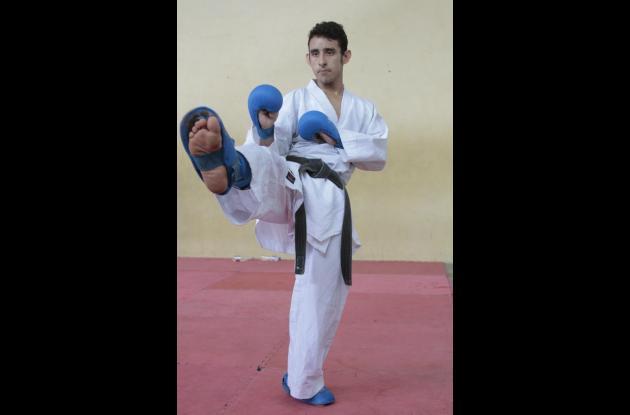 Andrés Felipe Amador fue quinto en el Mundial de Karate Do en España