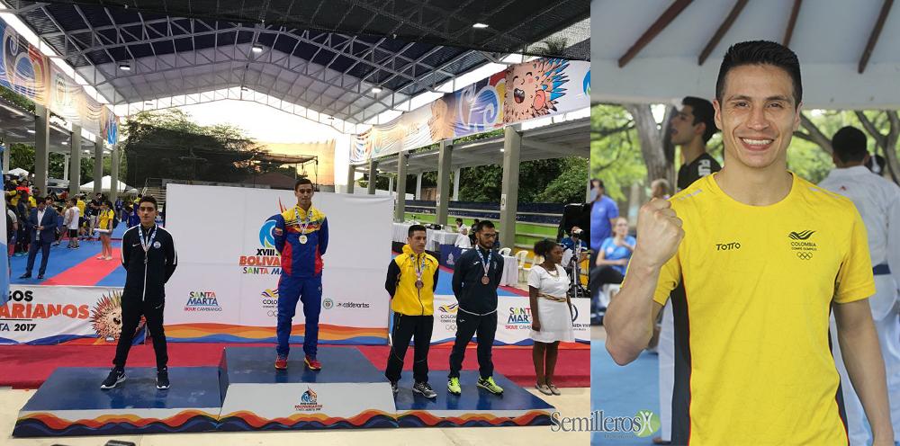 El caldense Andrés Rendón ganó medalla de Bronce en Karate