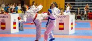 Maite Villacorta, en acción en uno de sus combates