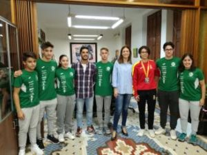 Marina Cáceres, homenajeada por su plata en el Mundial