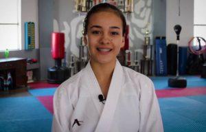 Paula Flores viajó al Abierto de Kárate en Okinawa