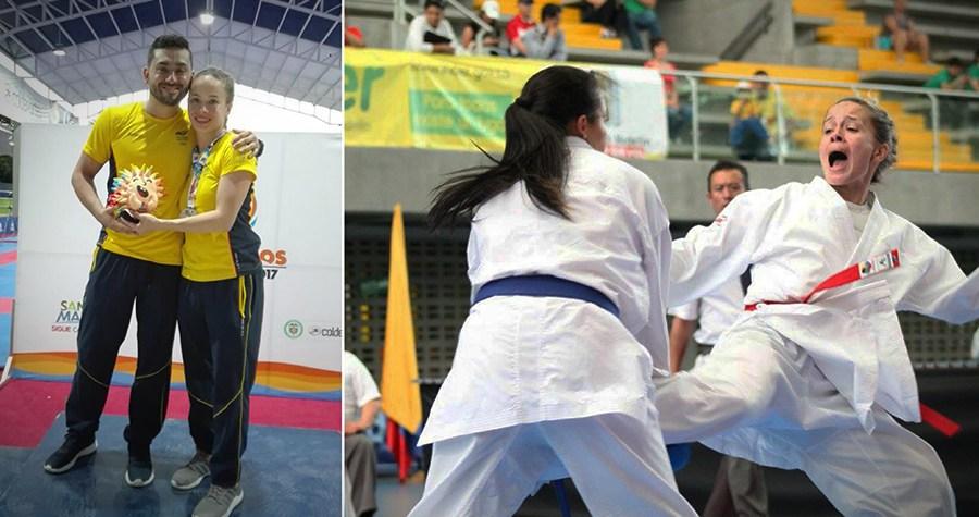 Paula Ruiz, plata y bronce en karate de los Juegos Bolivarianos
