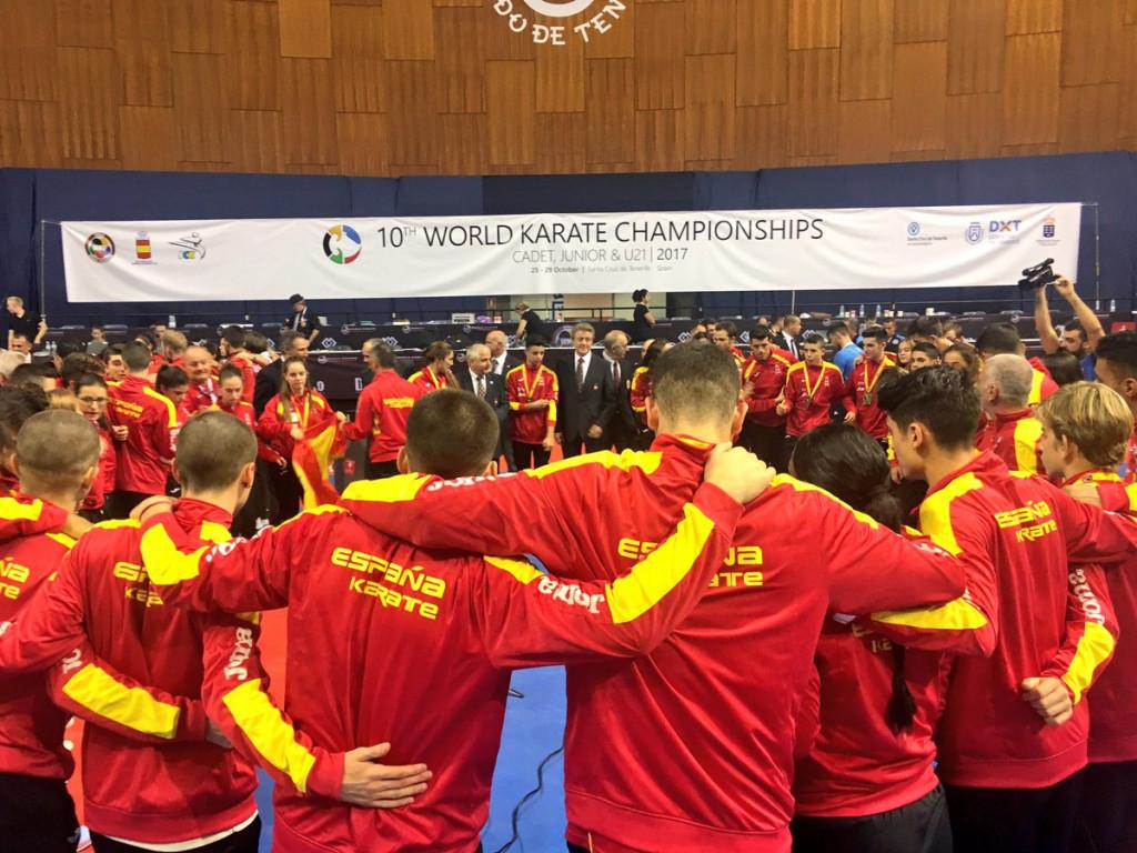 Las medallas del TeamESP de kárate en el Mundial