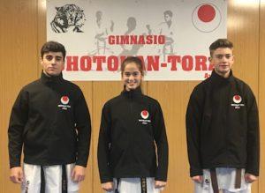 Tres karatecas del Shotokan Tora acuden al nacional cadete, júnior y sub21