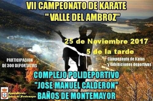 VII Campeonato de Kárate Valle del Ambroz