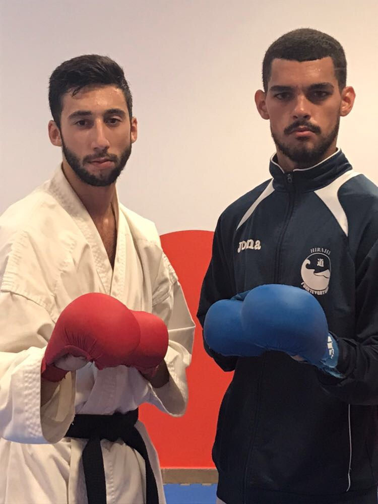 Damián Aisa y José Dearriba, en la Selección Canaria de Karate