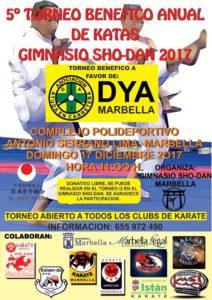 El Gimnasio Shodan organiza el próximo 17 de diciembre el V Torneo Benéfico de Katas a favor de DYA Marbella