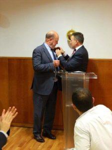 El karate extremeño homenajea al presidente de la Federación Mundial
