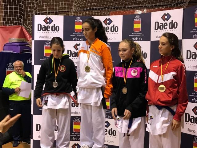 Nidia García, bronce en la final de la liga nacional 2017