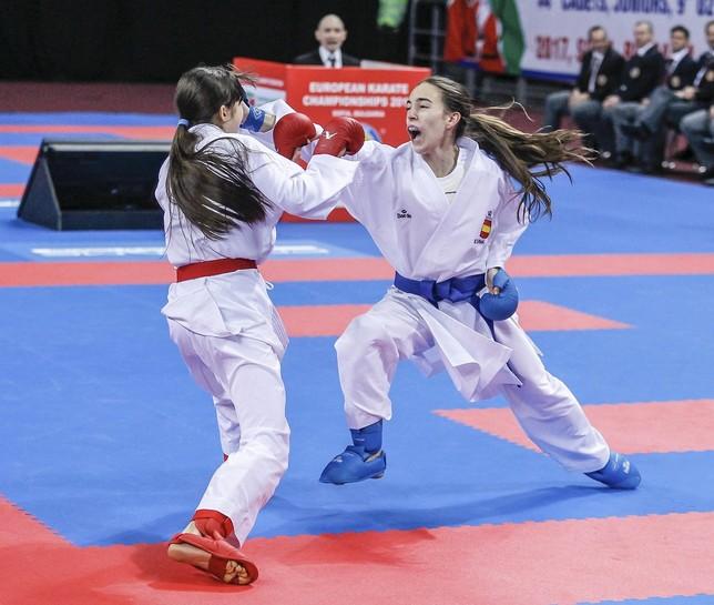 La karateka Nidia García no puede repetir podio en el Campeonato de Europa
