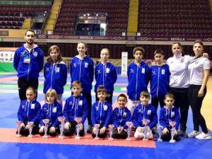 Once karatecas del Olympic Marbella se suben al podio en el Campeonato de Andalucía