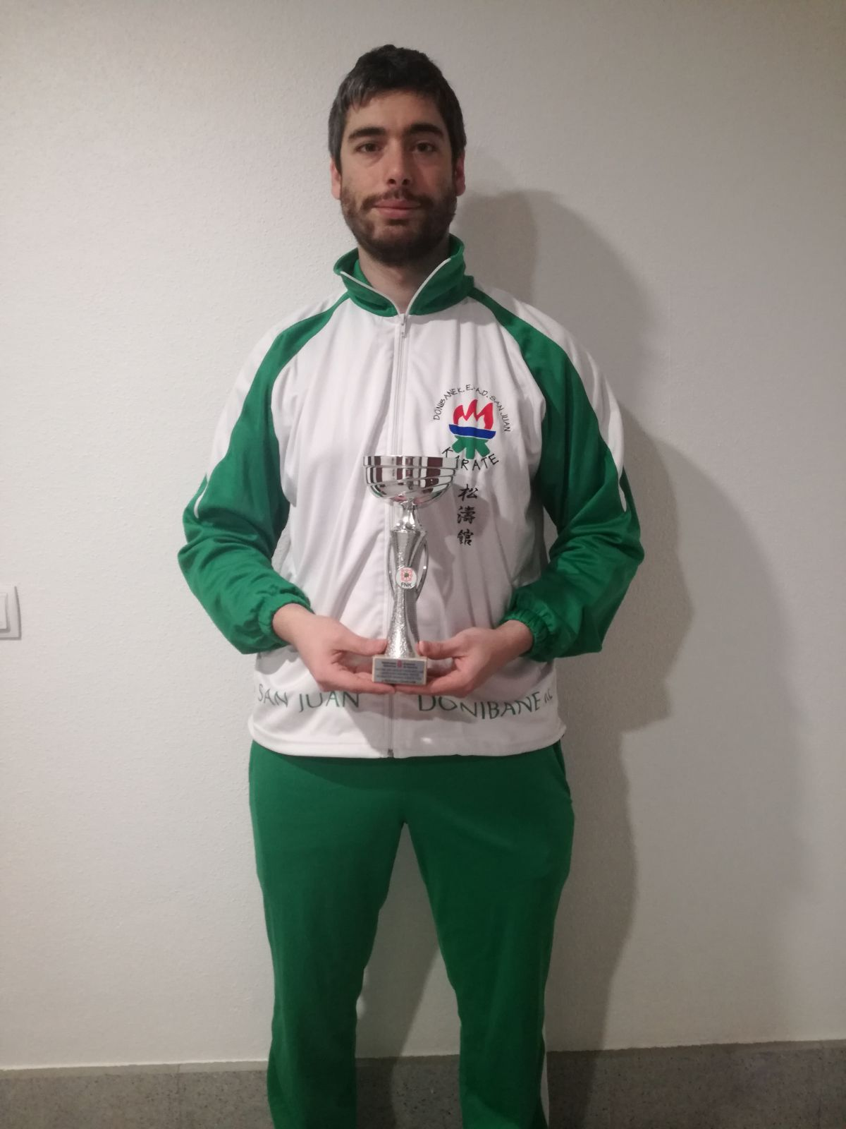 Rubén Arrastio tercero en Kumite del Cto. Navarro de Karate