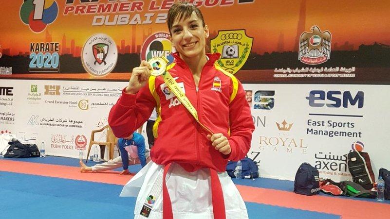 Primer oro del año para la talaverana Sandra Sánchez, brillante campeona en la Premier League de Dubai