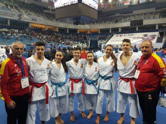 Dos torremolinenses, campeones de Europa con la selección española de Karate