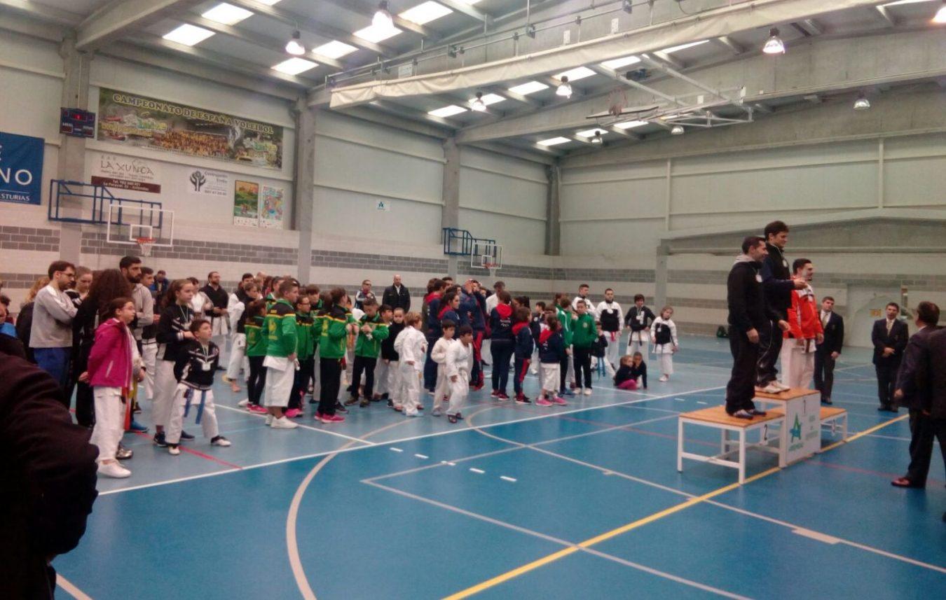 200 participantes en el Torneo de Kárate Villa de Arriondas