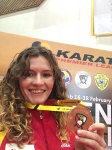La karateca Cristina Ferrer se acerca al top-20 mundial tras el bronce en Dubai