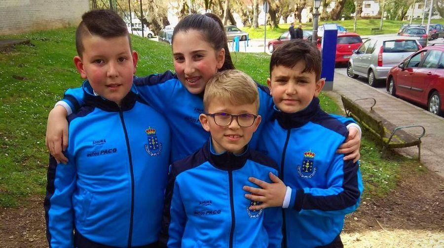 Cuatro infantiles del Akai Ryu Negreira de kárate en el Campeonato de España 0 (0)