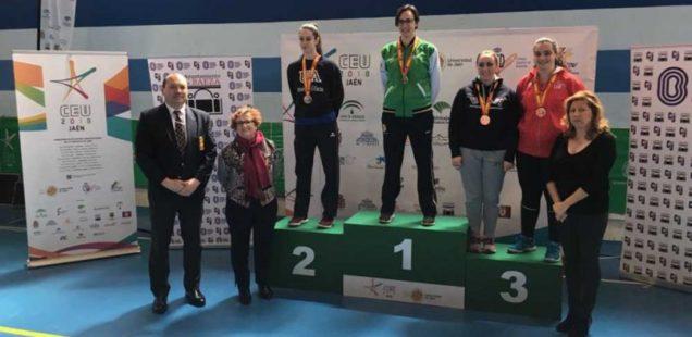 La karateca Alba Ruiz consigue la primera medalla de oro para la UJA en los CEU