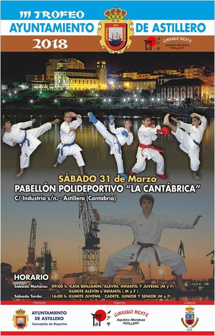 Más de 300 karatecas participaron en el III Trofeo de Kárate de Astillero