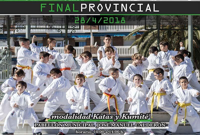 La final provincial de kárate reúne en Villanueva a 300 competidores