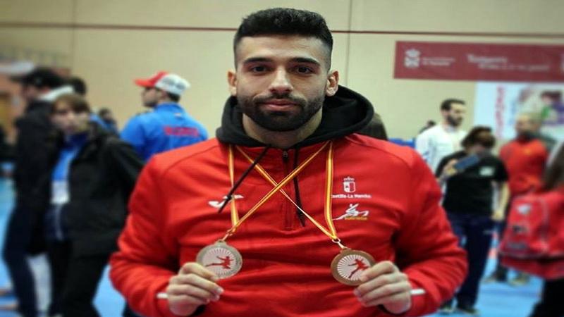 Doblete de podios para Raúl Cuerva en el Nacional de Karate