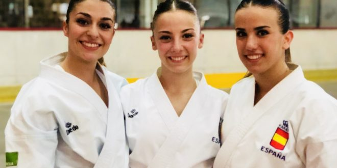 El equipo femenino español de kata se cuelga la medalla de plata 0 (0)