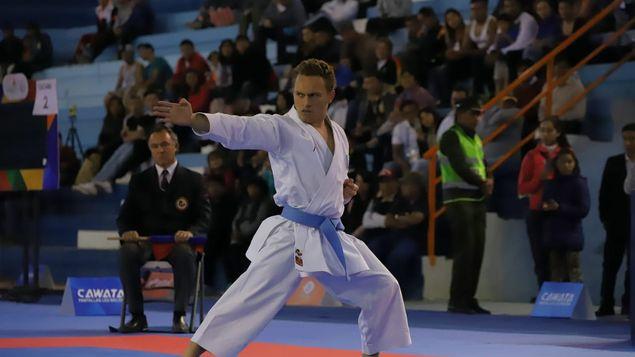 El karateka venezolano Antonio Díaz pasó a la final de kata en los Juegos Suramericanos