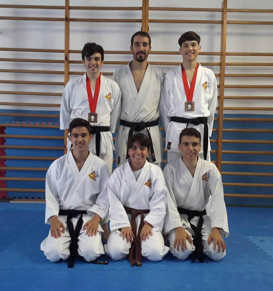 El Club de Kárate Ajei participó en el 18 Open Internacional Kárate Escaldes (Andorra) volviendo a casa con 2 terceros puestos y 4 cuartos puestos