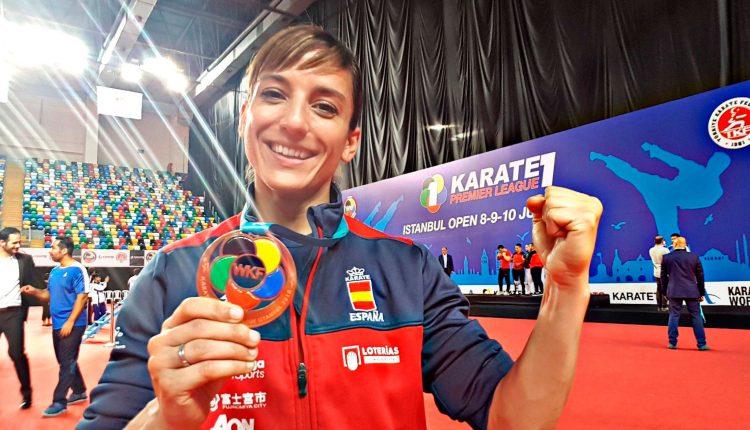 La karateca Sandra Sánchez, bronce en Estambul