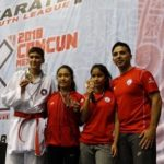 "Tres medallas conquistan karatekas ariqueños en el ""Youth League Karate 1"" Cancún 2018"