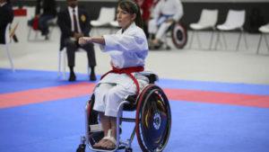 Isabel Fernández, campeona del mundo de parakárate y militar
