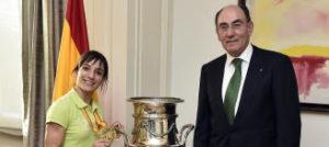 Sandra Sánchez, homenajeada por Iberdrola tras su oro mundialista