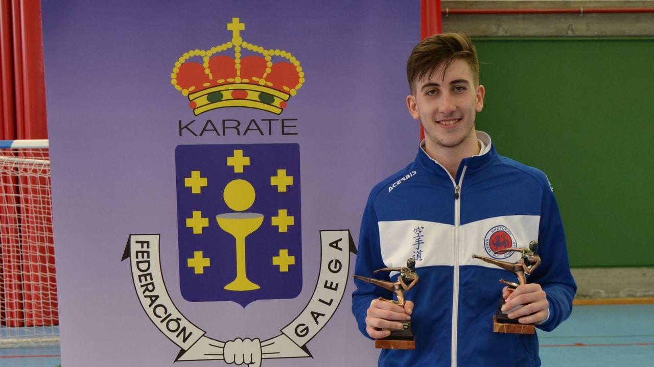 Alejandro Felpeto gana en As Pontes dos títulos gallegos de karate