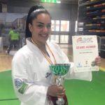 María Torres, campeona de la Liga Nacional de kárate en kumite