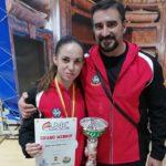 Nidia García revalida su título de campeona en la Liga Nacional de karate