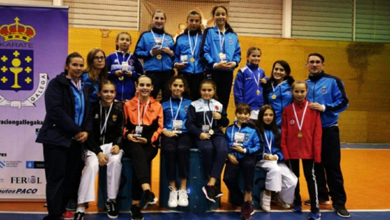 Icía Castro, Sara Couce y Alba Rocha, medallas en el trofeo Teresa Herrera de kárate