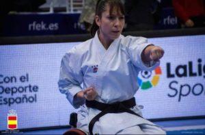 Medina muestra su apoyo a la campeona del mundo de Para-Karate