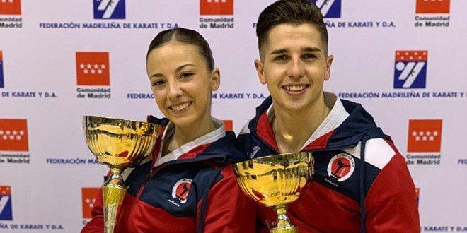 Lidia Rodríguez y Sergio Galán, campeones de Madrid en kata