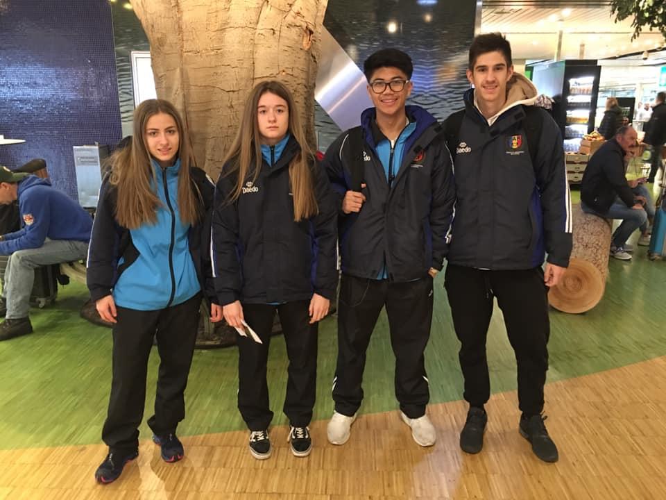 Gana de podios de los representantes andorranos en el Europeo cadete y junior de karate