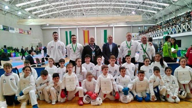 El kárate cordobés se cuelga cinco medallas en el Campeonato de Andalucía alevín, infantil y juvenil