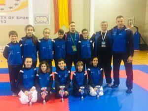 Excelente actuación del club Dakentai en los campeonatos de Andalucía de karate infantil