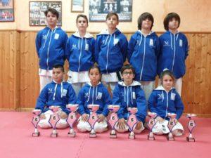 El Club Goju Ryu de Torremolinos logra nueve medallas en el Campeonato de Andalucía alevín, infantil y juvenil