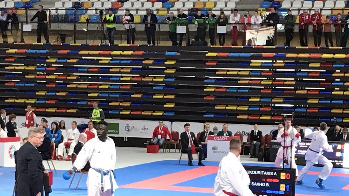 Babacar Seck se queda fuera del medallero individual en el Europeo