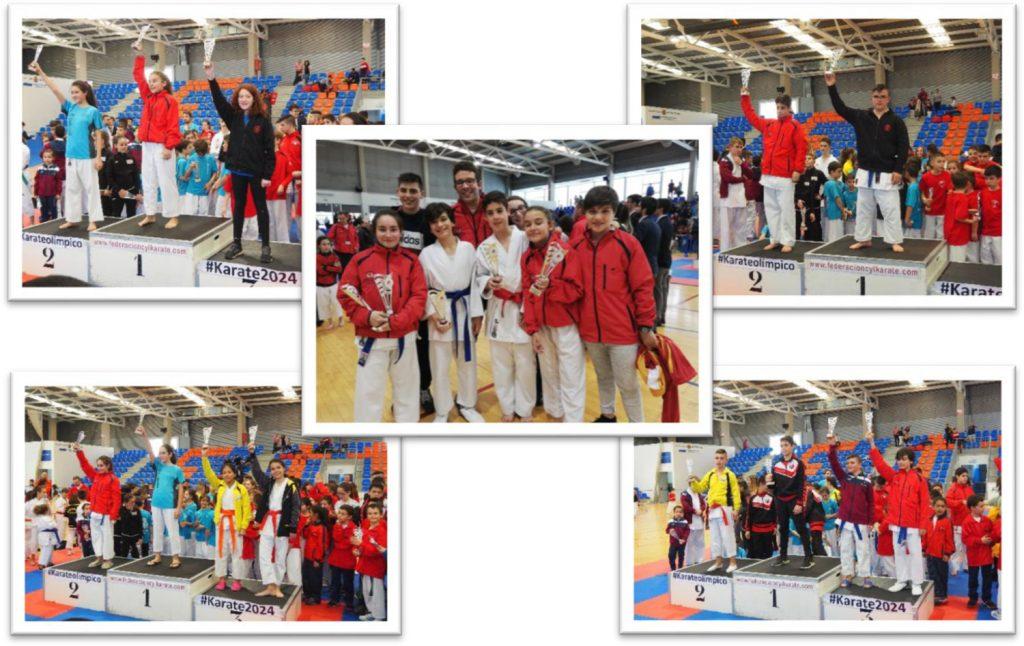 Cinco podios de los karatekas de Cabezón en el Campeonato Regional Juvenil