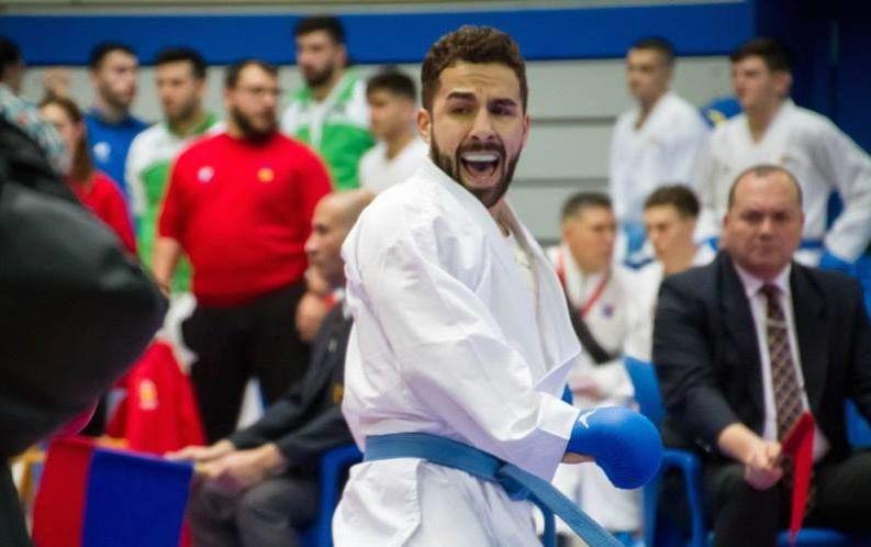 Participación muy corta de Matías Gómez en el Campeonato de Europa de karate
